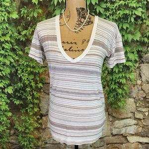 JAMES PERSE Short Sleeve Striped Tee, S